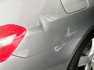 Mercedes Benz C Class Before Paintless Dent Repair