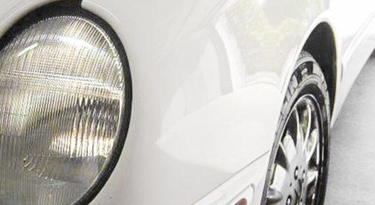 White Mercedes Bens After Paintless Dent Repair